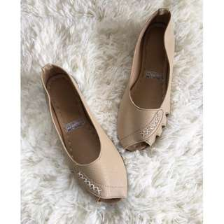 Flat shoes, doll shoes, open toe, Made to order Item code: c1048