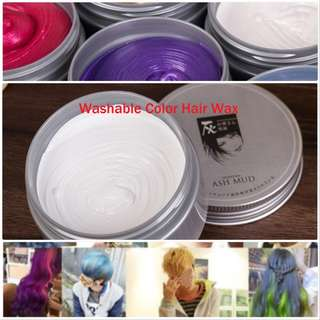 🚚 Temporary Washable hair Wax (White, Grey, gold, blue, purple, red and green available)