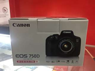 Kredit Canon Eos 750D kit 16-55mm Dp 10% tanpa kartu kredit