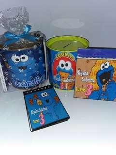 Customised Cookie Monster Savings Bank pack