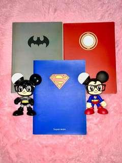 Super hero notebook Batman superman iron man