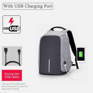 55% OFF unisex Anti Theft Travel BackPack Bag free Data cable L060