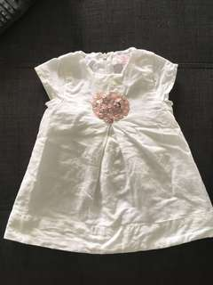 Baby girl Linen dress chateau de sable