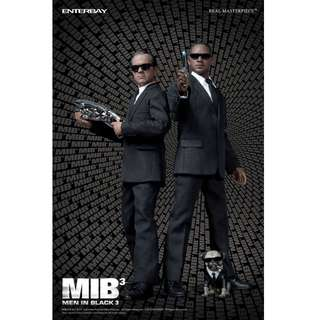 Enterbay MIB3 Men in Black III 1/6 Agents J & K Will Smith Tommy Lee Jones (not Hot Toys, Sideshow)