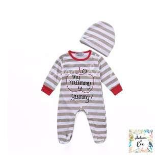 Baby Romper Set (Open Feet) A13 – My Mummy is Yummy Set