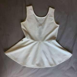 White Peplum top