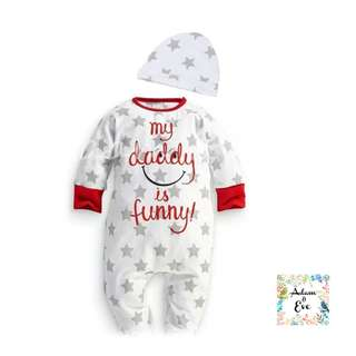 Baby Romper Set (Open Feet) A14 – My Daddy is Funny Set