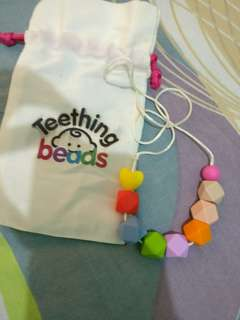 Baby teething beads for mom necklace