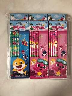 Pink Fong Baby Shark - Pencils (6 sets of 4)