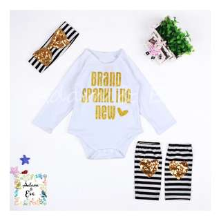 Baby Girl Romper Set A10 –Brand Sparkling New Set