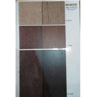 Lantai vinyl tile nexwood berbanyak warna