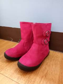 Barbie - Pink Suede Boots with buckles