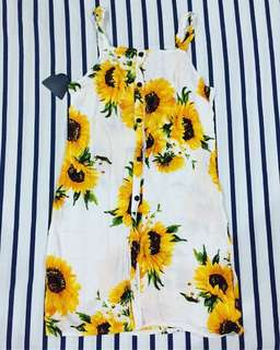 Sunflower summer dress