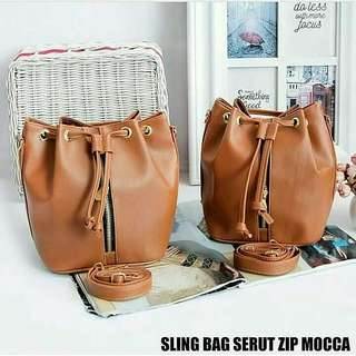 Sling bag Serut Zip Mocca