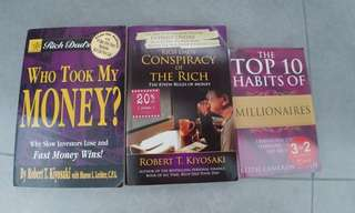 3 finance books for SGD 25
