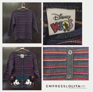 🌺 DISNEY KIDS Girls/Kids  Knitted Sweater Mickey Mouse 🌺