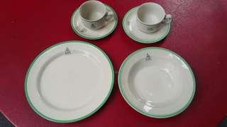 香港殖民地時期政府餐具