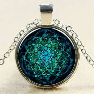 Flower Of Life Pendant with Chain ( Chakra Glass Mandala)