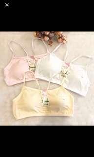 (in stock)Children girl cotton bra