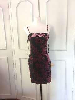 Forever 21 Velvet Cami Dress size L on tag