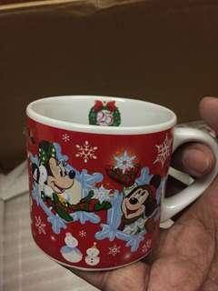 Vintage Tokyo Disney Resort Mug Original Mickey Minnie Mouse Christmas 2008