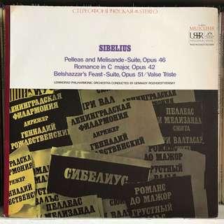 Sibelius Orchestral Music Rozhdestvensky Melodiya SR 40031