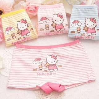 Set of 4ps Girl Cotton Panties Boxers - Kitty C