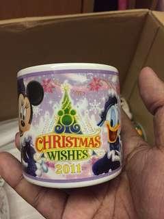 Vintage Tokyo Disney Resort Mug Original Mickey Minnie Mouse 2011 *minor broken at bottom