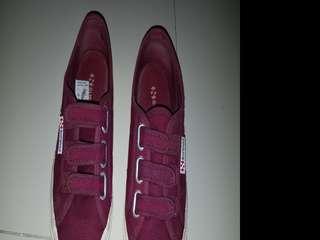 Maroon superga strap shoe