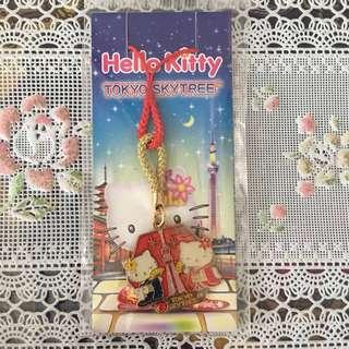 (包郵)全新日本東京限定Japan Tokyo Skytree Hello Kitty 紅色幸運掛飾