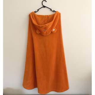 Umaru orange bear hood/bathrobe