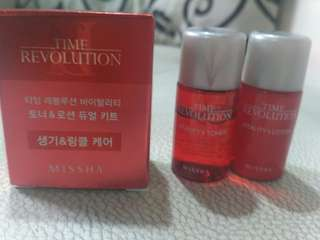 Missha time revolution trial kit original korea