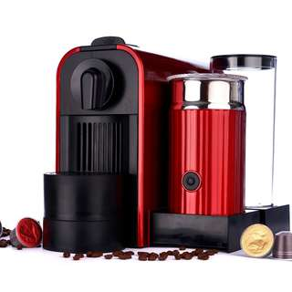 Coffee Capsule Machine, including milk foamer
