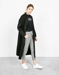 Bershka Houndstooth Tailored Pants