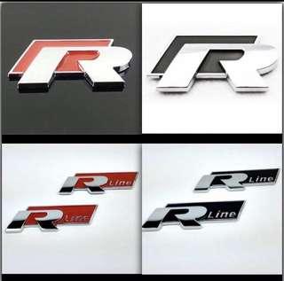 Volkswagen R emblem for boot or side doors