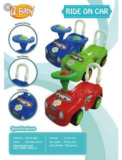 Kids on ride car
