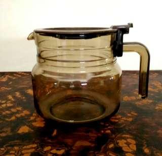 France Brown Glass Coffee Pot