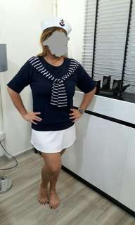 Sailor nautical marine tee theme costume