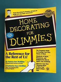 HOME DECORATING FOR DUMMIES - 1ST EDITION INTERIOR DIY DESIGN