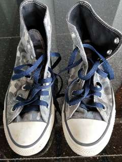 Converse Sneakers hi-cut blue camo