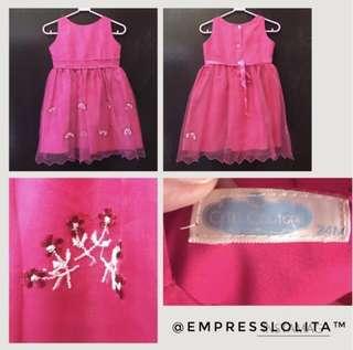 🌺Kids/Girls/ Toddler Sunday Dress in Hot Pink 🌺
