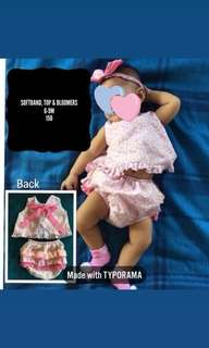 MTO Top, Bloomers & Softband 6-9M