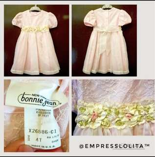 💐Kids/Girls/ Toddler Sunday/Party  Dress in Soft Pink