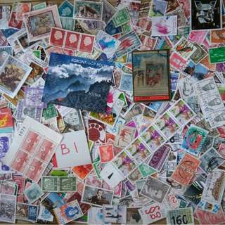 World Mix Stamps 500 pcs lot B1 BL586
