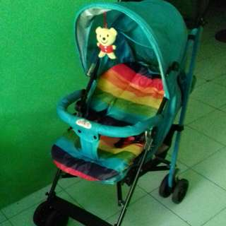 Stroller baby does blue