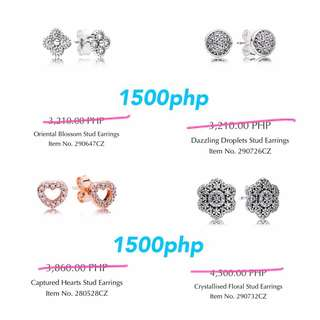 AUTHENTIC PANDORA FOR SALE EARRINGS RINGS CHARMS