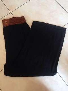 Black Long Square Pants