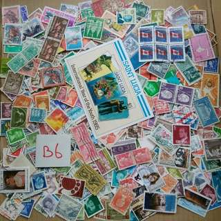 World Mix Stamps 500 pcs lot B6 BL591