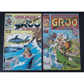 Groo the Wanderer #54,#55 (1989 Marvel)- Set of 2, By Sergio Aragones!