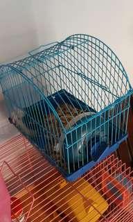 Kandang hamster & 1 hamster